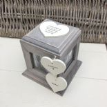 Shabby Chic PERSONALISED Rustic Wood In Memory Of Mum Mam Or ANY NAME Photo Cube - 232995677039